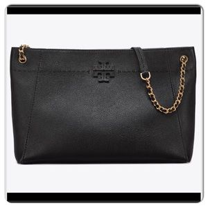 Tory Burch McGraw leather chain tote